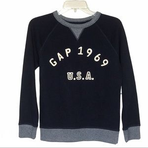 Gap Boys Graphic Logo Navy Sweatshirt